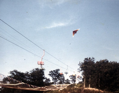 Flying over the Chair Lifts at Big Walker I (197?)